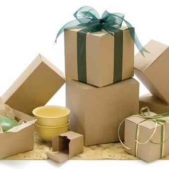 Gofruoto kartono dėžutės