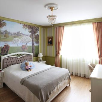 Klasikinio stiliaus buto interjeras Vilniuje
