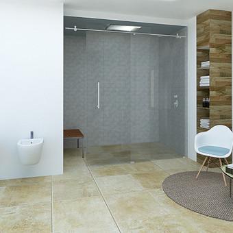 Vonios kambariui kurti buvo pasirinkta moderni minimalistinė stilistika. Todėl interjere naudojamos natūralios medžiagos, bei spalvos. Baltos lubos ir sienos padėjo sukurti šviesesnės ir erdve ...