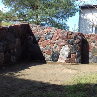 Skaldytas akmuo.Mūro darbai