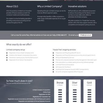 Paprasta HTML tipo svetainė. Be turinio valdymo sistemos http://cgls.co.uk/