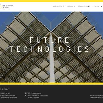 Saulės baterijų gamintojo UAB Aroka tinklalapis. www.intelligentsolar.eu