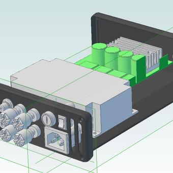 Galios stiprintuvo 3D modelis