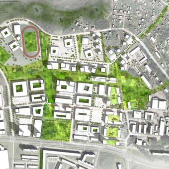 Rengiame teritorijų vystymo projektus. Teritorijos Kaune urbanistinė koncepcija.