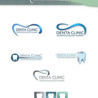 logotipas. logtipu variantai. odontologjos klinika vilniuje