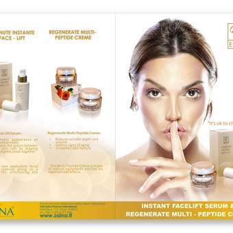 reklaminis lankstinukas. zaina kosmetika