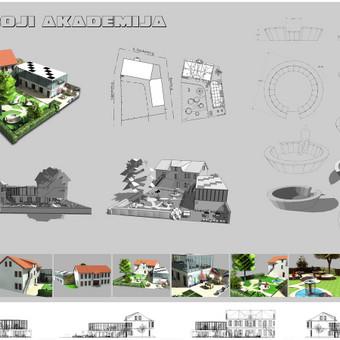 maketas. mazoji akademija projektui