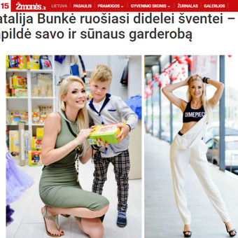 """Organizavau muzikos atlikėjos Natalijos Bunkės apsilankymą prekybos miestelyje """"Urmas""""."""