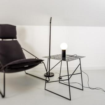 Parduodami: Perforuoto metalo staliukai. Dydžiai; 45x45x-H48.5.cm Diz. V.Sadaunykė