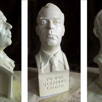 Portretinis biustas. Dažtas gipsas, h - 30 cm