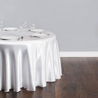 Didelė apvali staltiesė diametras 300 cm. Nuomos kaina - 7€