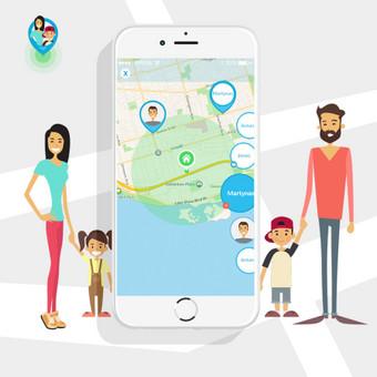 Šeimos monitoringo programėlė (ios) Lokacija, navigacija, chat https://play.google.com/store/apps/details?id=com.gpswox.android_projects.familylocator