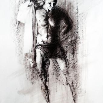 """Piešinys """"Drawing-018 With the Pride"""", anglis-popierius, 56x86cm"""