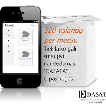 """Darbo teisės specialistas / """"DASATA"""" DARBO SAUGOS TARNYBA / Darbų pavyzdys ID 160359"""
