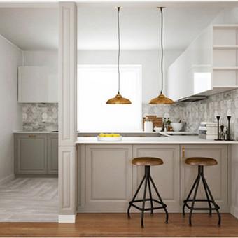 Virtuvės interjero vizualizacija ir virtuvės baldų projektas. Čia pateikiame tik virtuvės vizualizacijos ir baldų projekto fragmentą kaip pavyzdį.