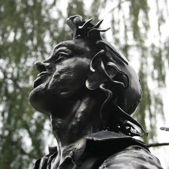 dėdės Vacislovo matamorfozės. juodo metalo skulptūra