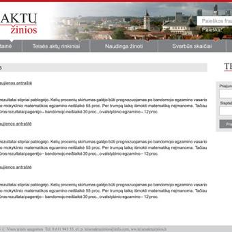 Teisės aktų žinios internetinis puslapis