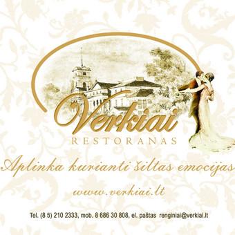 Verkių restorano logo ir reklama žurnalui