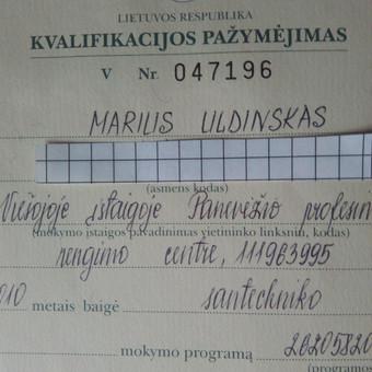 Santechniko paslaugos / Marius / Darbų pavyzdys ID 168137