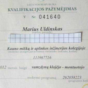 Santechniko paslaugos / Marius / Darbų pavyzdys ID 168139