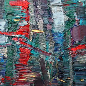 """Vakaro peizažas 10 x 10   aliejus, drobė.   Šį paveikslą galite pamatyti ir įsigyti """"Parko galerijoje"""" Valančiaus g. 6, Kaunas"""