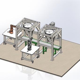 Robotų rėmai - 3D modelis