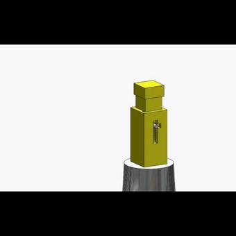 Mechaninio smūgiuotuvo animacija