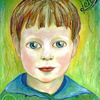 Vaikų portretai pastele