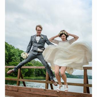 Vestuvinis šuolis / Eglė ir Raimondas (vestuvių fotografija)
