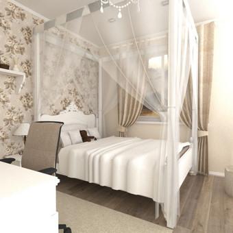 Provanso stiliaus mergaitės kambarys