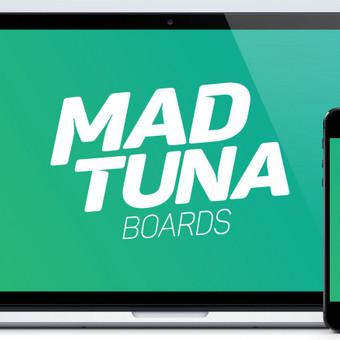 www.madtunaboards.com | Sukurta tinklapis, logotipas, produktai, produktų grafinis dizainas, kita vaizdinė bei spausdintinė medžiaga, brandas. Fotografuojama bei atliekamas foto retušavimas. Ties projektu dirbama 2014 - 2016 m. | www.madtunaboards.com