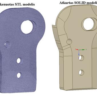 Skenuoto modelio atkūrimas į solid kūną.