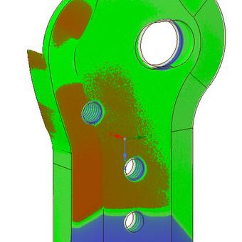 Modelio atkūrimo kokybė - tolerancija 0,1 mm