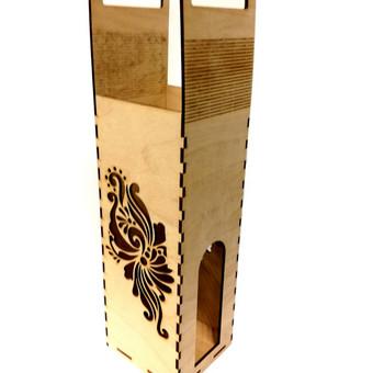 Dovanojimo dėžutė vynui.
