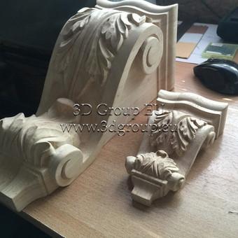 2D, 3D ir 4D frezavimas, 3D skenavimas / 3D Group EU, 3D Wood / Darbų pavyzdys ID 174533