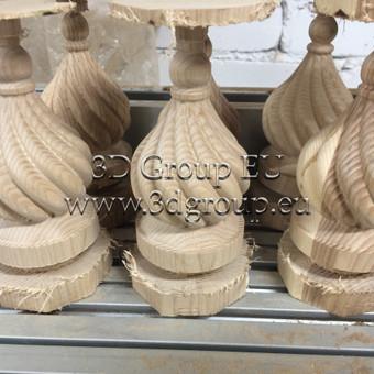 2D, 3D ir 4D frezavimas, 3D skenavimas / 3D Group EU, 3D Wood / Darbų pavyzdys ID 174555