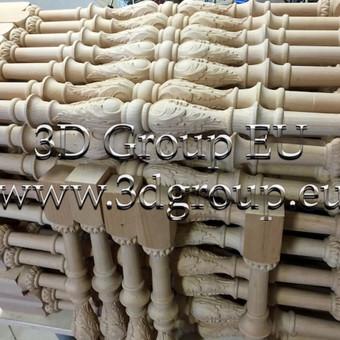 2D, 3D ir 4D frezavimas, 3D skenavimas / 3D Group EU, 3D Wood / Darbų pavyzdys ID 174561