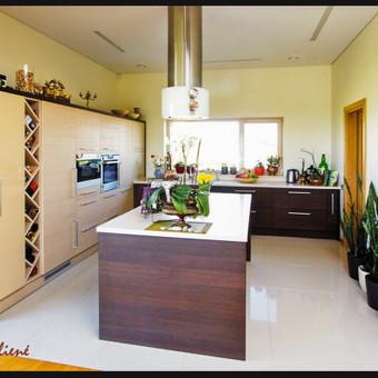 Didelė erdvi virtuvė nuosavame name