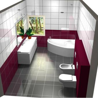 3D vonios kambario projektas