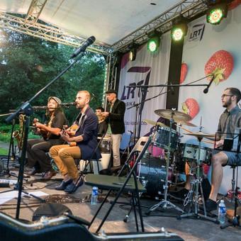 Koncertas Kristupo Vasaros festivalyje kartu su muzikantais iš Čilės, Brazilijos, Italijos bei Lietuvos džiazmenais (2016)