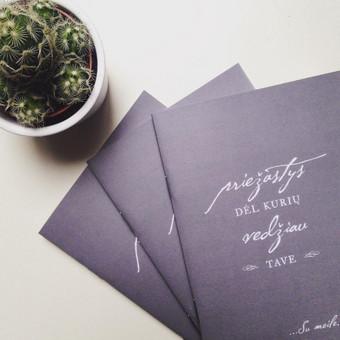 Įgyvendintas jaunikio noras - per vestuves jaunajai padovanoti užrašinę su priežastimis, kodėl gi Jis Ją taip myli
