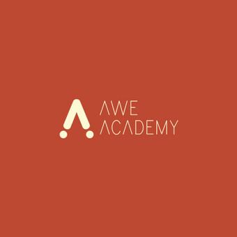 """Sukurtas logotipo dizaino pasiūlymas """"Awe Academy"""" ,interaktyviųjų mokslų svetainei."""
