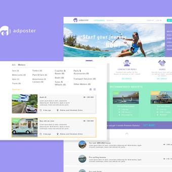 Sukurtas web dizainas skelbimų svetainei. Svetainė skirta Anglijos rinkai.