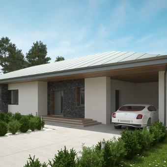 Šis modernios išvaizdos individualus gyvenamasis namas buvo suprojektuotas kaip ūkininko sodyba. Nors namo forma vienalytė - be didesnių įmantrybių - ją paįvairinome klinkerio plytelių apda ...
