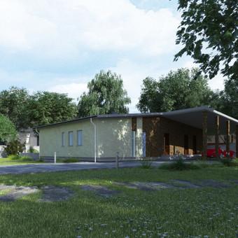 """VEJUONA"" - tipinis (kartotinis) Arch Arte komandos sukurtas vienbučio namo projektas. Bensras namo plotas 130 kv.m."