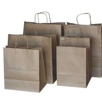 Popieriniai maišeliai prekėms.