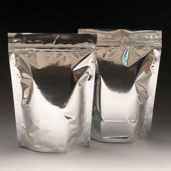 Metalizuoti maišeliai su zip užsegimu.