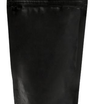Juodas matinis maišelis su/be zip užsegimo.