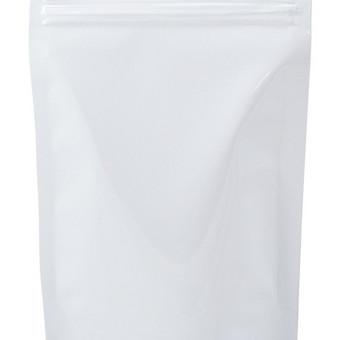 Baltas matinis maišelis su/be zip užsegimo.
