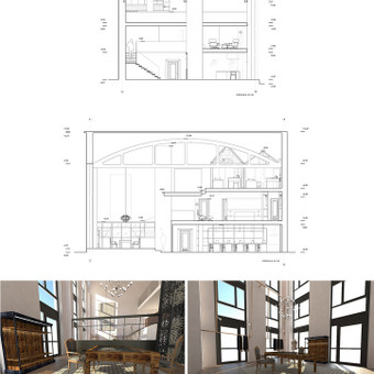 LoftTown interjero dizaino projektas.